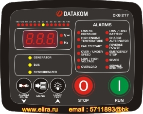 DKG-217 Manual and Remote Start Unit with Synchroscope and Check Synch. Relay